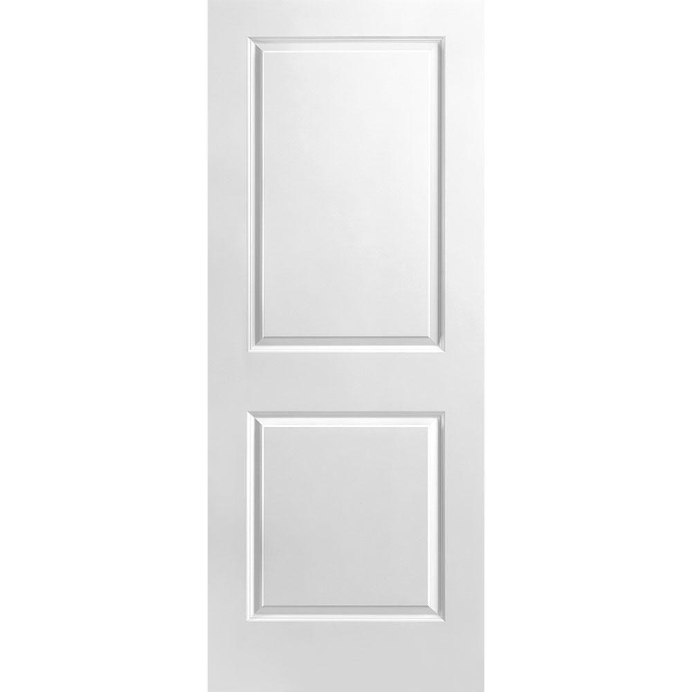 Porte unie lisse 2 panneaux 32 po x 80 po