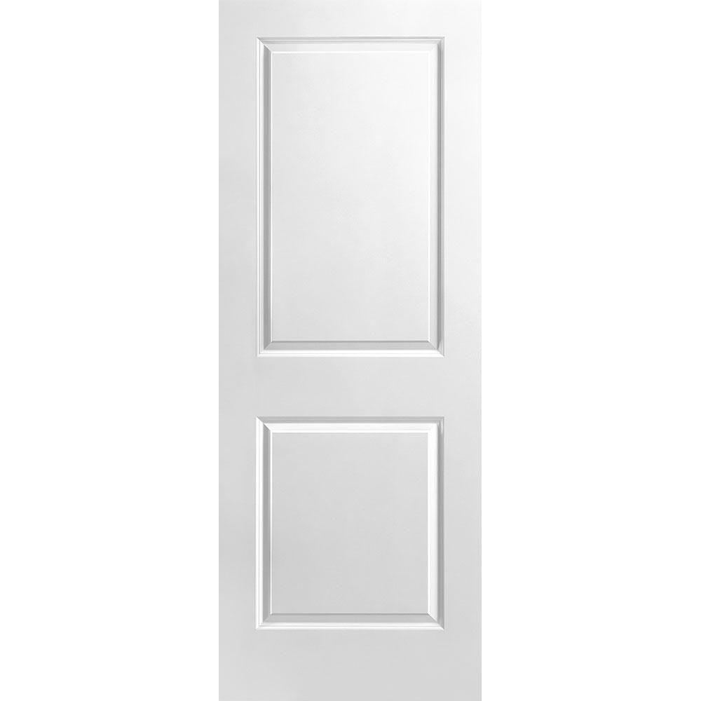 Porte unie lisse 2 panneaux 30 po x 80 po