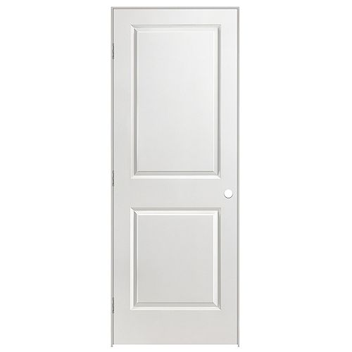 Masonite 28-inch x 80-inch Righthand 2-Panel Smooth Prehung Interior Door