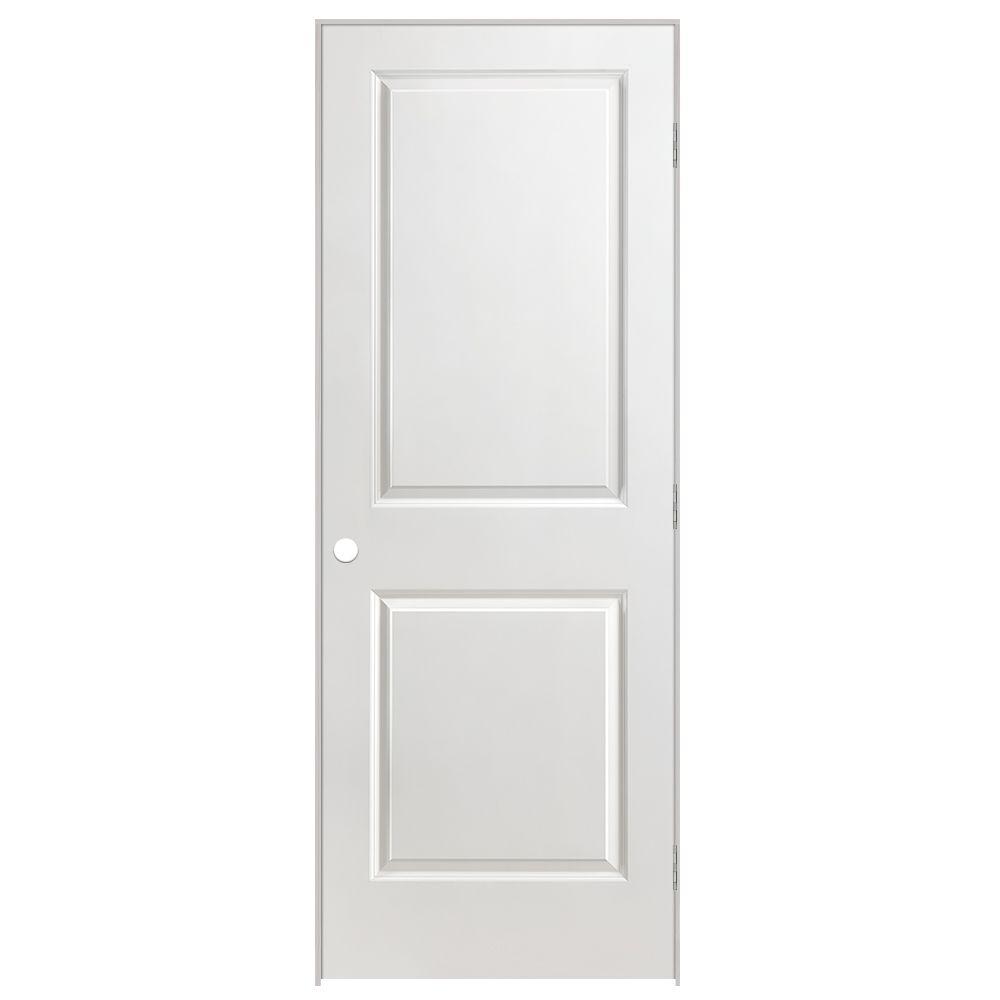 24-inch x 80-inch Lefthand 2-Panel Smooth Prehung Interior Door