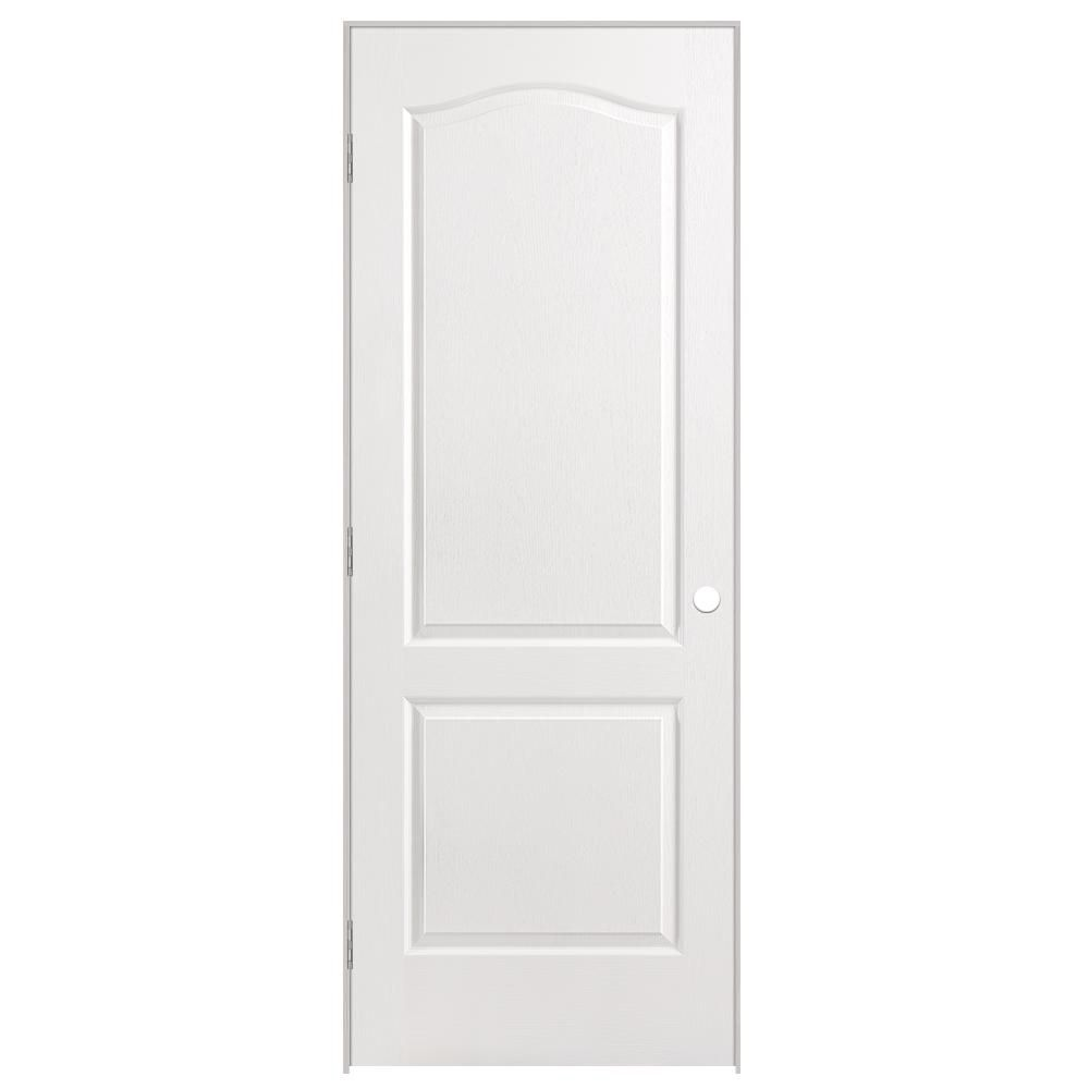 30-inch x 80-inch Righthand 2-Panel Arch Top Textured Prehung Interior Door