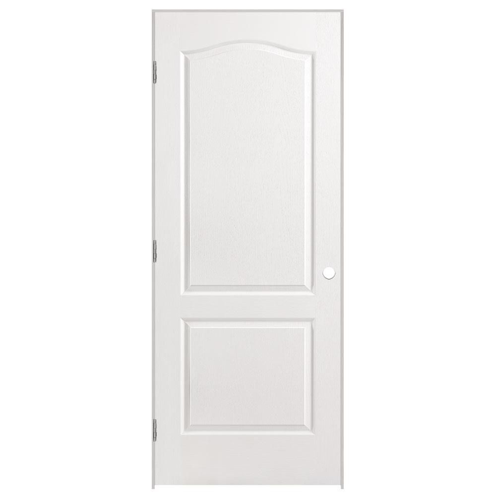 32-inch x 80-inch Righthand 2-Panel Arch Top Textured Prehung Interior Door