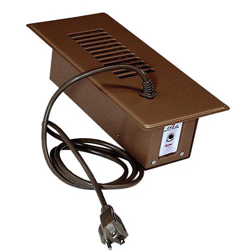 Ventilateur d'appoint plus brun avec thermostat intégré