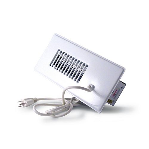 Cyclone Booster Fan Plus in White with Built-In Thermostat