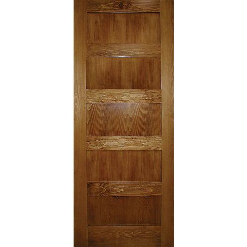 Milette 28-inch x 80-inch A Zen Designed 5-Panel Shaker Door in Clear Pine