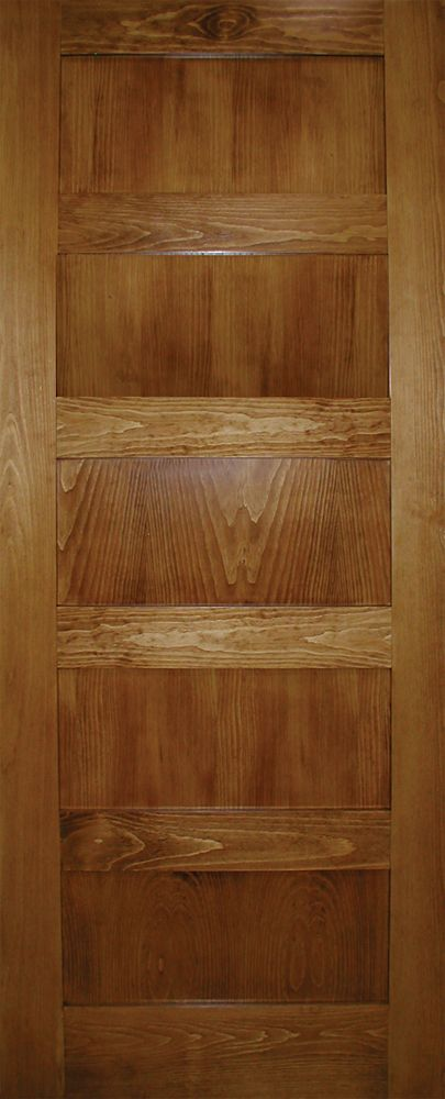 30x80 A Zen Designed 5 panel Shaker door in Clear Pine