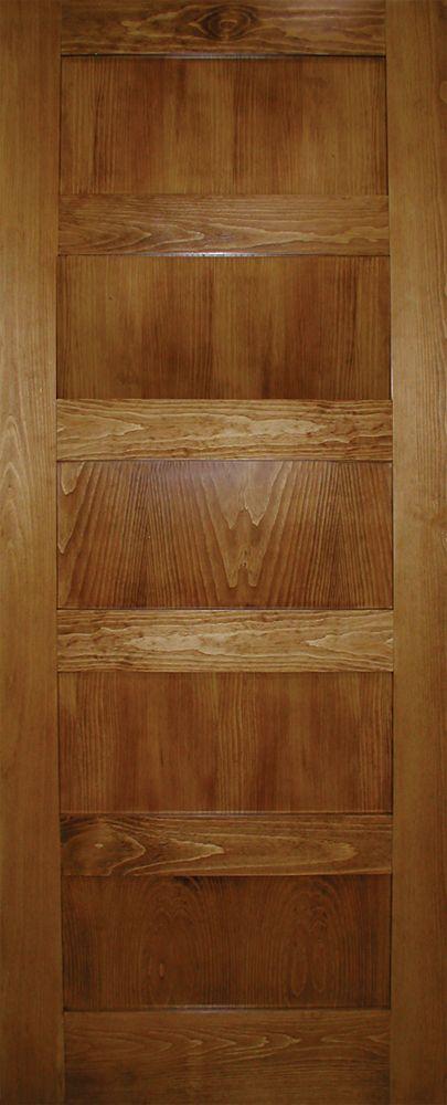 32-inch x 80-inch A Zen Designed 5-Panel Shaker Door in Clear Pine