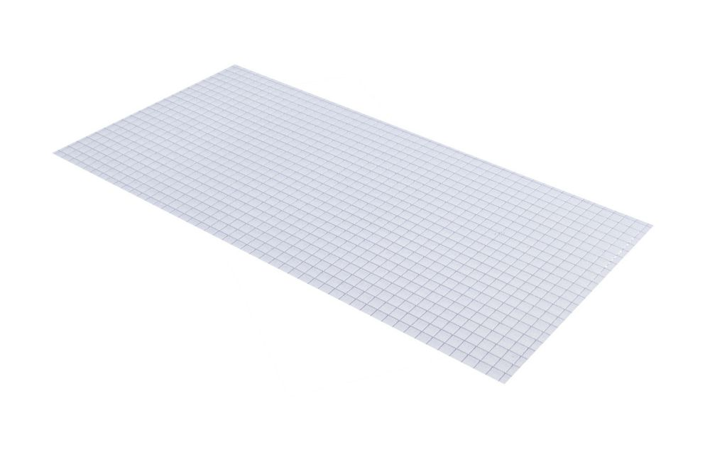Panneau déclairage en acrylique «prisme carré» de 60 cm x 121 cm (23,75 po x 47,75 po)