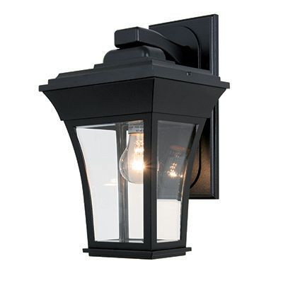Accord, Downlight Wall Mount, Clear Beveled Glass, Black