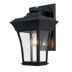 Snoc Accord, Downlight Wall Mount, Clear Beveled Glass, Black
