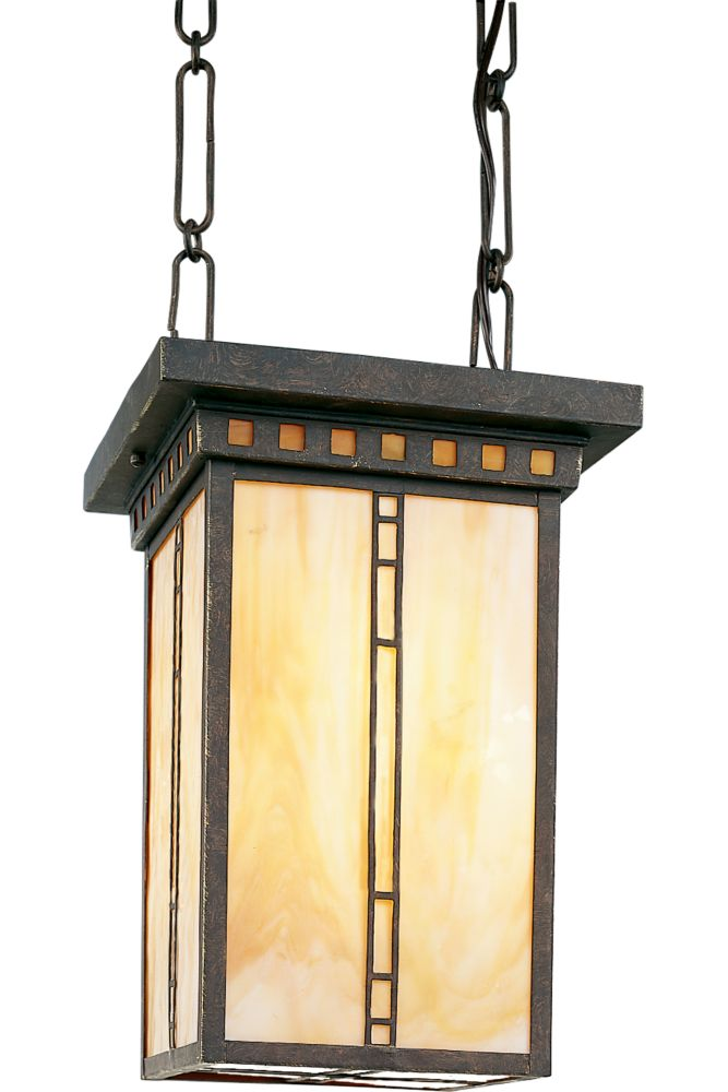 Arts and Crafts Collection Weathered Bronze 3-light Foyer Pendant