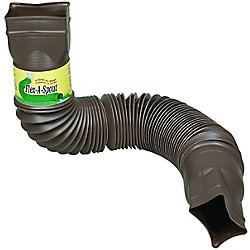 Euramax Canada Flex-A-Spout Downspout Extension in Brown
