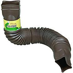 Rallonge de tuyau de descente Flex-A-Spout, brun