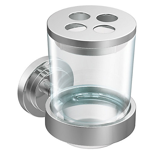 Iso Chrome Wall Mounted Toothbrush Holder