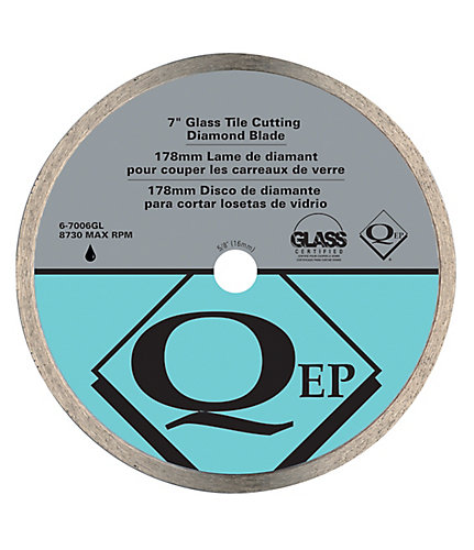 Qep 7 Inch Glass Tile Diamond Blade For Wet Saws The Home Depot Canada