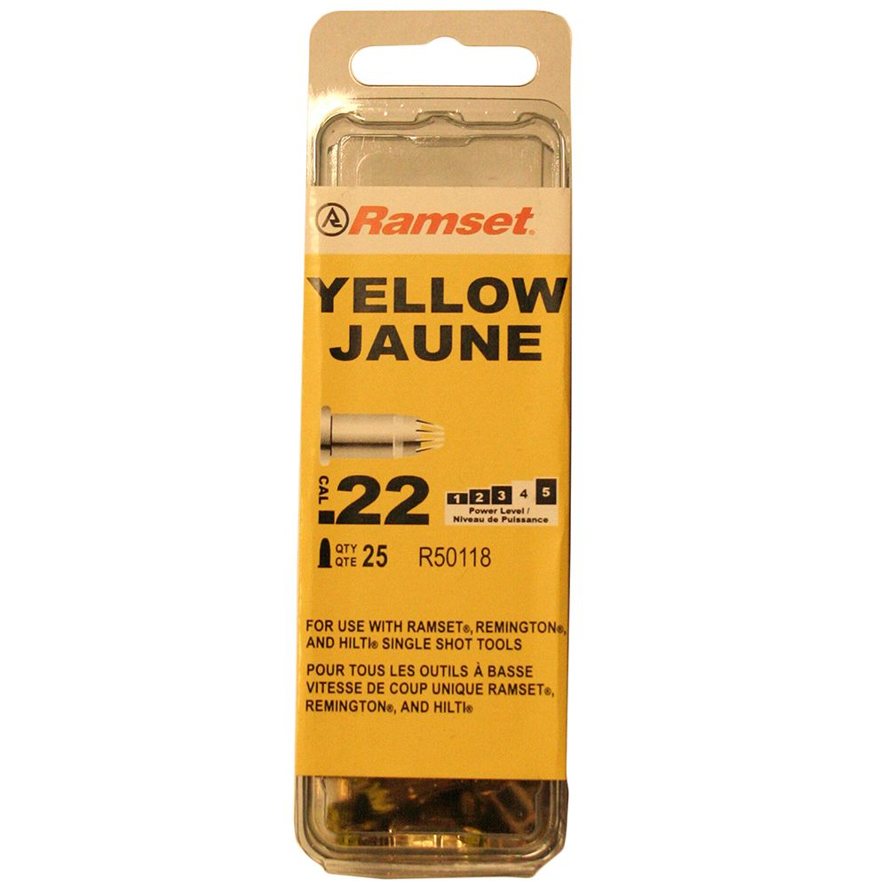 22 Cal. Single Shot Yellow Load, 25 Pack