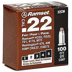 Ramset Charges Brunes, À Un Seul Coup, De Calibre 0,22, Paquet De 100
