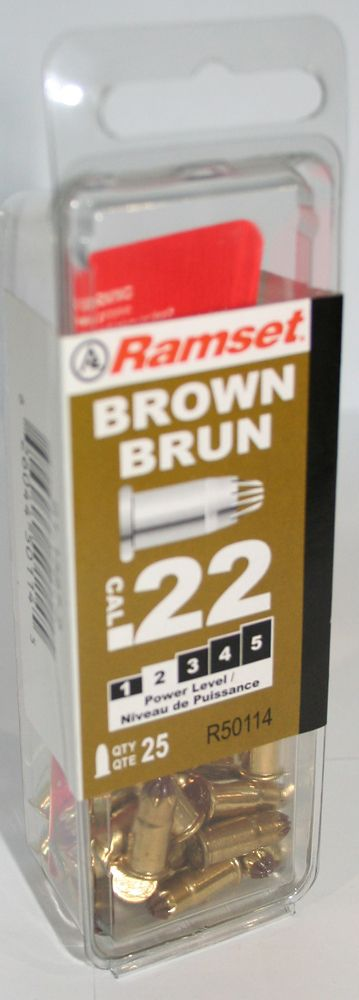 22 Cal. Single Shot Brown Load, 25 Pack