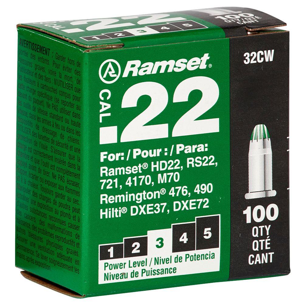 22 Cal. Single Shot Green Load, 100 Pack