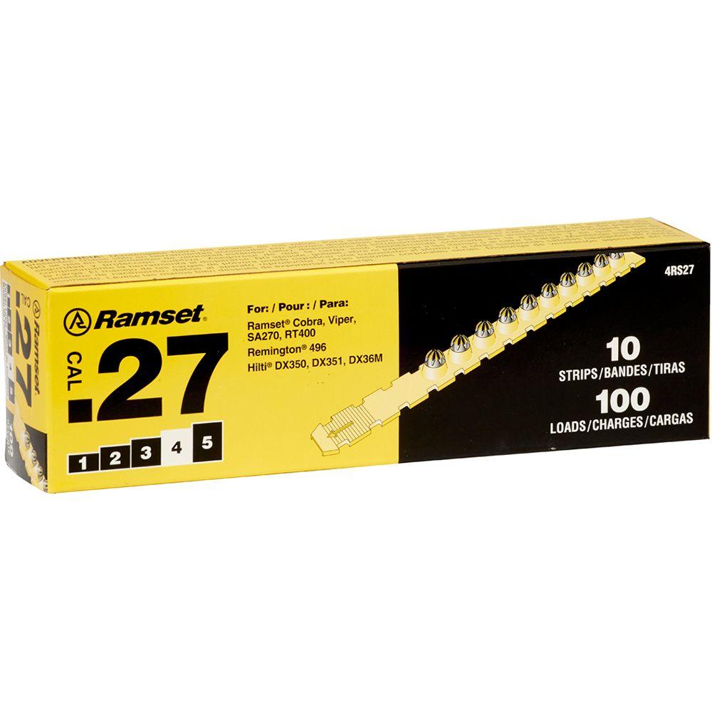 27 Cal. Strip Shot Yellow Load, 100 Pack