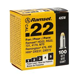 Ramset 22 Cal. Single Shot Yellow Load (100-Pack)