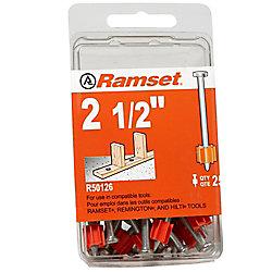 Ramset Goupilles De 2 1/2 Po, Paquet De 25