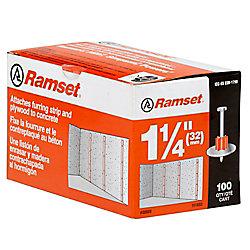Ramset Goupilles Avec Rondelle De 1 1/4 Po, Paquet De 100