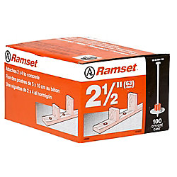 Ramset Goupilles Avec Rondelle De 2 1/2 Po, Paquet De 100
