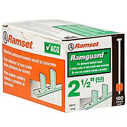 Ramset Goupilles RamguardmcDe 2 1/2 Po (Acq), Paquet De 100