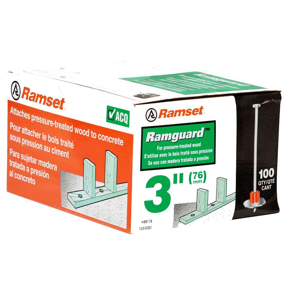 "3"" Washered Ramguard Pin (ACQ), 100 Pack"