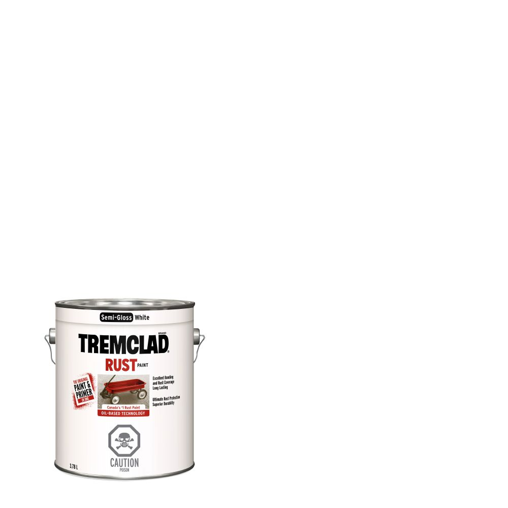 Tremclad Semi Gloss White 3.78L