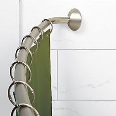 Curved Hotel Shower Rod - Brushed Nickel