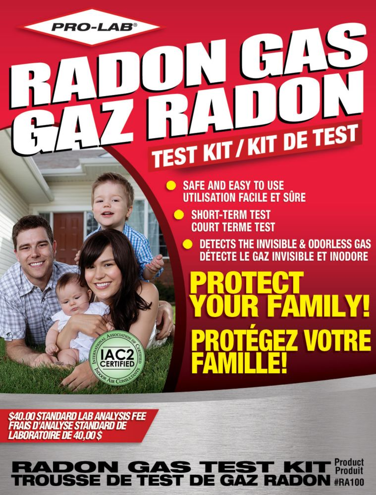 pro lab do it yourself radon gas test kit s the home depot canada. Black Bedroom Furniture Sets. Home Design Ideas
