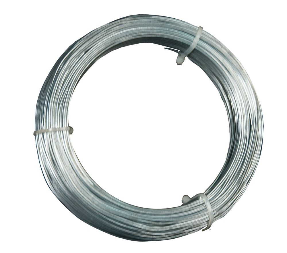 12 Gauge Hanger Wire, for Suspending Drop Ceiling Tees from Lag Screws - 100 Feet