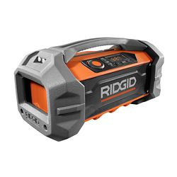 RIDGID 18V Hybrid Jobsite Radio with Bluetooth Wireless Technology (Tool Only)