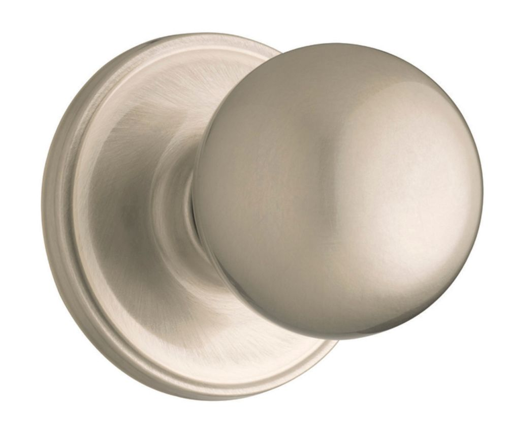 Bouton de passage huntington � fini nickel satin