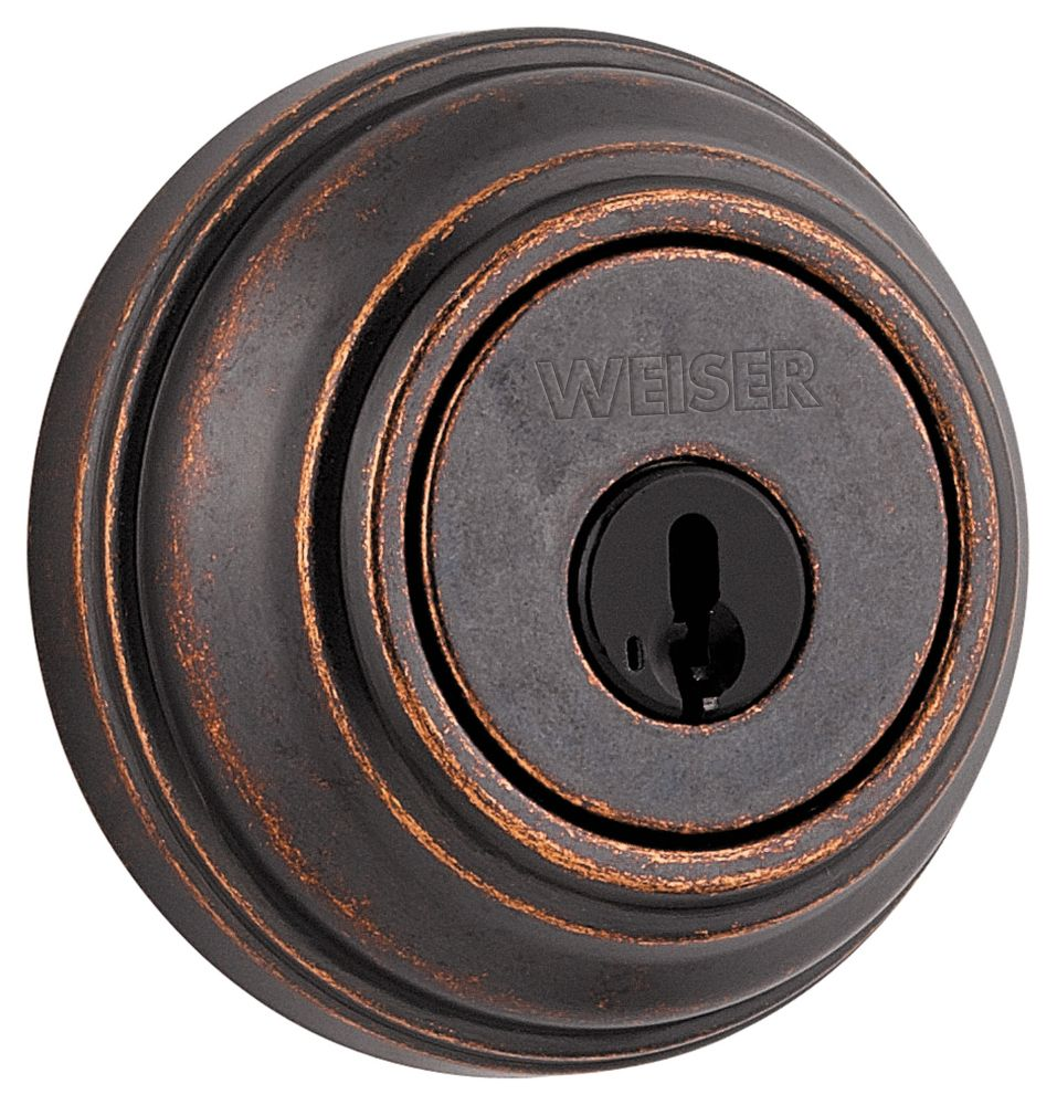 Collections Rustic Bronze Single Cylinder Deadbolt