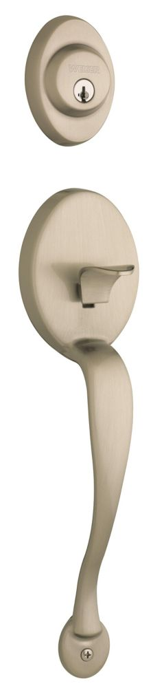 Augusta Satin Nickel Handle Set with Huntington Knob