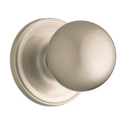 Weiser Huntington single dummy  knob - satin nickel finish