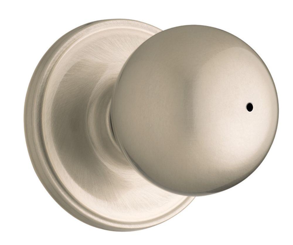 Serrure à bouton sans clé huntington � fini nickel satin