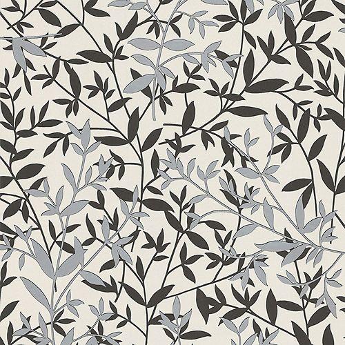 Graham & Brown Bijou Black/White/Silver Wallpaper