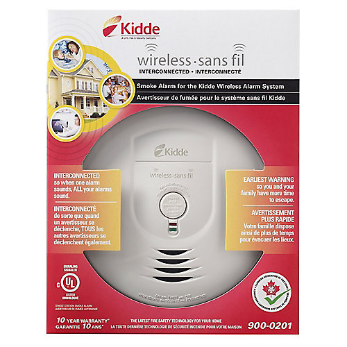 Battery Operated Wireless Smoke Alarm with Hush Feature