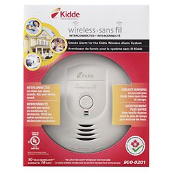 Kidde Battery Operated Wireless Smoke Alarm with Hush Feature