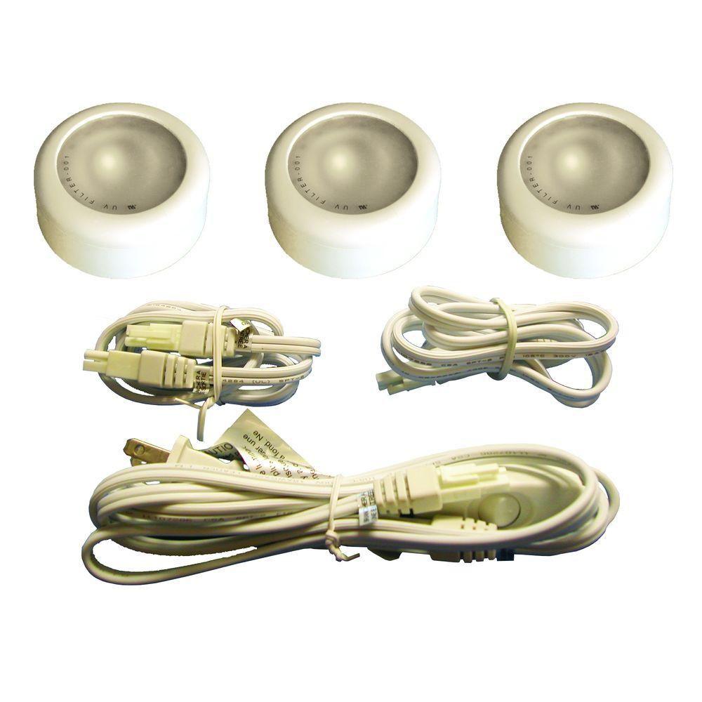 3 Xenon Puck Kit, White