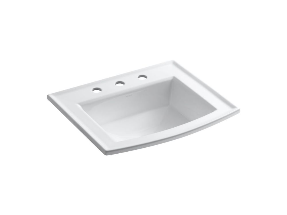 Archer 22 5/8-inch L x 19 7/16-inch H Self-Rimming Bathroom Sink in White