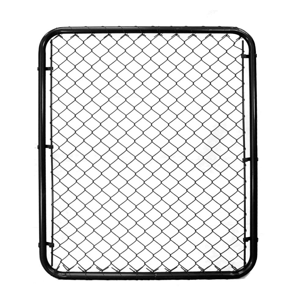 Chain Link Gate - 48 Inch Tall X 40 Inch Wide - Black