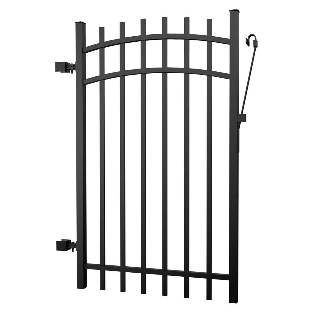 Aluminum Fence Gate Black 5 foot