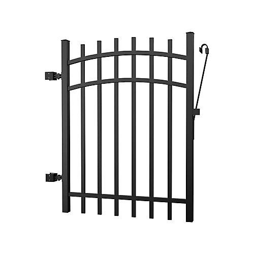 Aluminum Fence Gate Black 4 foot