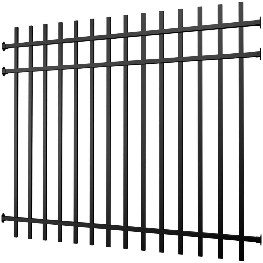 Aluminum Fence Panel Black 5 foot