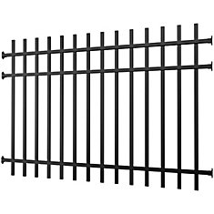 Aluminum Fence Panel Black 4 foot